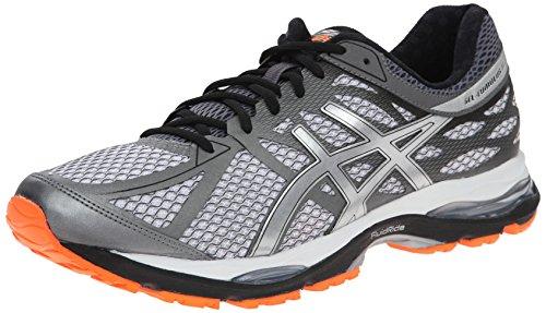 ASICS Men's Gel Cumulus 17 Running Shoe, White/Silver/Hot Orange, 6 M US