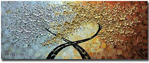 V inspire Art 24x60 Inch Modern Hand Painted 3D Flower Artabstract Canvas Wall Art Oil Paintings product image