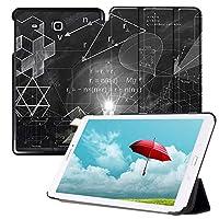 MAITTAO Slim Case for Samsung Galaxy Tab E 9.6, Leather Protective Stand Cover For Tab E Wi-Fi/Tab E Nook/Tab E Verizon 9.6-Inch Tablet/Galaxy Tab E SM-T560/T561/T565/T567V, Creative Bulb 16