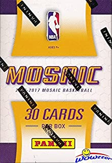 2016/17 Panini PRIZM Mosaic Basketball Factory Sealed HOBBY Box! Look for Ben Simmons ROOKIE Cards that are on FIRE! Look for Autographs of Stephen Curry, Brandon Ingram, Kevin Durant & More! WOWZZER!