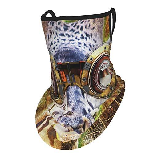 Pañuelo facial reutilizable Steampunk gafas jirafa vapor punk bandana con bucles para las orejas, pasamontañas