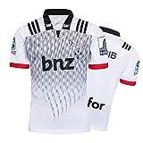 Maillot de Rugby pour Homme, 2018 Crusaders Home/Away T-Shirt de Rugby Respirant, T-Shirt de Football Supporter Haut de Sport-White-M