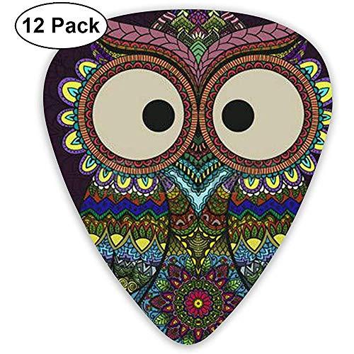 Ornamental Owl Classic Guitar Picks 12 Pack para guitarra eléctrica, guitarra acústica, mandolina