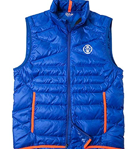 Ralph Lauren Polo Deportes para hombre Zephyr Down Chaleco Chaleco Expedition Blue D20 XS X-Small