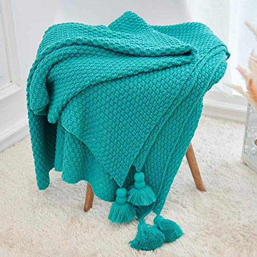 Home Decoration Nordic Tassel Knitted Pineapple Pattern Pendant Summer Air Conditioning Sofa Blanket Gift Green 130 * 170Cm