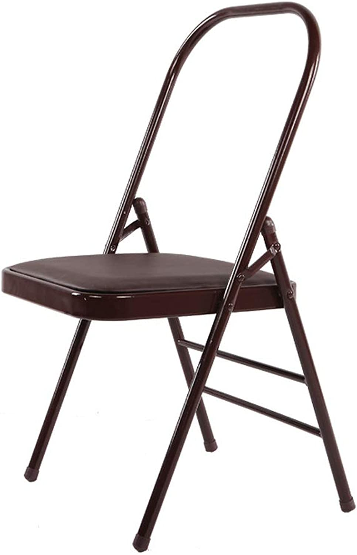 AKBQ Verstrkter Yoga-Stuhl, Der Tragbaren Yoga-Stuhl Faltet, Yoga-Turnhallen-Spezialstuhl, Rückenfreier Standardhilfspraxis-Krperaktivittsstuhl Für Yoga
