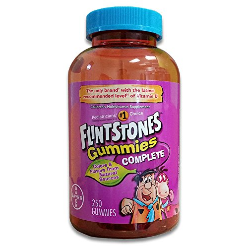 Flintstones Gummies Complete-Children's Multivitamin, 250 Gummies with More D3, Packaging My Vary