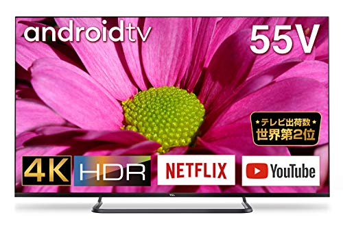 TCL 55V型 4K対応 液晶テレビ スマートテレビ(Android TV) 55P8S 外付けHDD裏番組録画対応 Dolby Audio