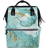 Mummy Backpack Abstract Marble Art Mochila para Pañales Mochilas De Gran Capacidad Papá Bolsas De Bebé Casuales Múltiples Funciones Mamá Cremallera Viaje Unisex 28X18X40Cm