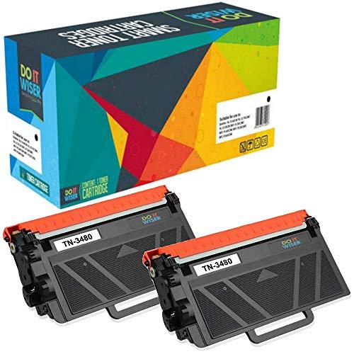 Cartuccia toner TN3480 Do it wiser compatibile in sostituzione di Brother DCP-L5500 L6600 HL-L5000 L5100 L5200 L6250 L6300 L6400 MFC-L5700 L5750 L6800 L6900 (Nero, confezione da 2)