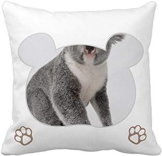 OFFbb-USA Koala Body Ears Bear - Funda cuadrada para almohada