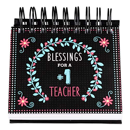 """Blessings for a #1 Teacher"" -Perpetual Calendar�Teacher Desk Calendar w/ Biblical Inspiration: Wired Coiled | 366 Pages | Free-Standing - Teacher Appreciation Gifts"