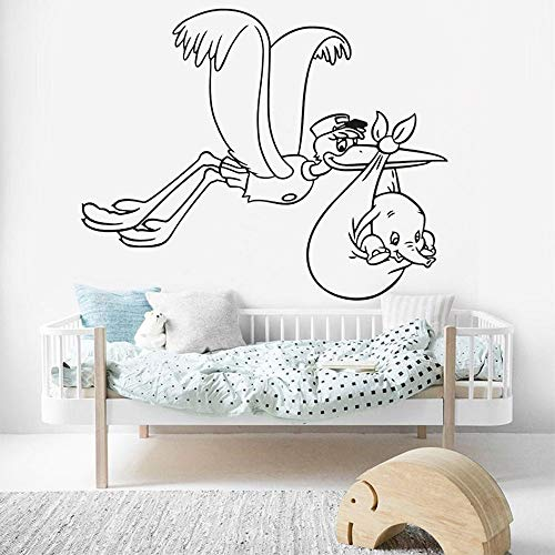 Babyolifant muurstickers kleuterschool kinderkamer ooievaar familie decoratie vinyl muurstickers woonkamer slaapkamer decoratie accessoires <> 50x60cm