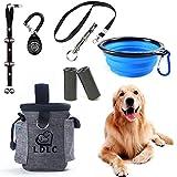 SSRIVER Kit de entrenamiento para cachorros, piezas de timbres ajustables, bolsa de entrenamiento, silbato para controlar el ladrido del perro y bolsa de caca para entrenamiento de mascotas