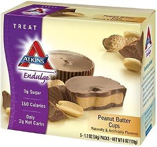 Atkins Endulge Treats, Peanut Butter Cups Net wt. 6 OZ (10 Cups Total)