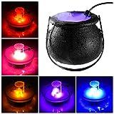 KFSO Halloween Witch Cauldron Fog Maker 12 LED Lights, Halloween Party Mist Maker, Water Fountain Fog Machine, Halloween Indoor/Outdoor Decoration Lights (Black)