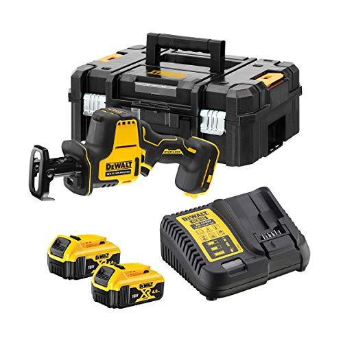 DeWalt DCS369M2-QW DCS369M2-QW-Mini-Sierra Sable XR 18V con 2 baterías Li-Ion 4Ah con maletín