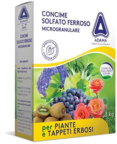 adama Concime Solfato Ferroso microgranulare 1 kg Contro clorosi Prato BIO