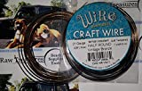 BeadSmith Non-Tarnish Vintage Bronze Plated Copper Half Round Craft Bead Wire 21Ga (21Ft)