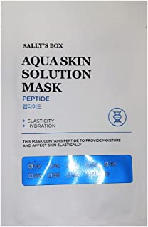 Sally's Box Aqua Skin Solution Mask - Peptide - Elasticity & Hydration - 10 Masks in Total