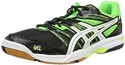 ASICS Men's Gel-Rocket 7 Volleyball Shoes, Multicolor (White / Black / Vermilion), 44 EU