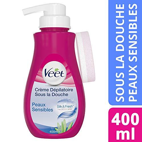 Veet Crème Dépilatoire sous la Douche Corps et Jambes - Peaux Sensibles - 400 ml