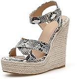 Womens Wedge Platform Open Toe Sandali Espadrille Croce Cinturino Suningback Summer High Heel Sandals 35-42-38.