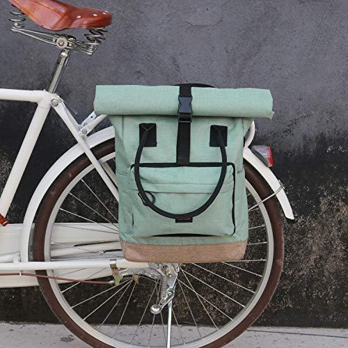 Tourbon Roll-Top Gepäckträger Rucksack Fahrradtasche Gepäckträger Fahrradtasche