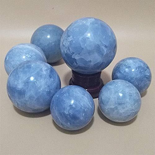 Mrjg Kristallkugel Dekorative Kugeln 50-100mm natürliche Celestine Stein Kristallkugel Wahrsagerei Energie Stein Ball Photography dekoriert Ball ohne zugesetztes Pigment glaskugel
