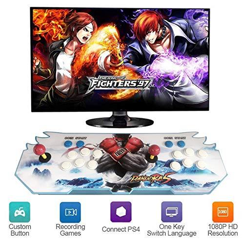 Hplights Heim-Arcade-Spielekonsole | Enthält 4000 HD-Spiele | Volles HD1080-Video | Spielsteuerung für 2 Spieler | HDMI/VGA/USB,HV-06
