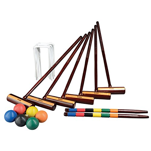 Franklin Sports Outdoor Croquet Set - 6 Player Croquet Set with Stakes, Mallets, Wickets, and Balls...