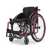 XQY Medizinischer Rehabilitationsstuhl, Rollstuhl, Sportart Rollstühle 13Kg Tragbarer Faltbarer Transportrollstuhl Ergonomischer Sitz 100Kg Tragkraft 40 * 40Cm Sitz Selbstfahrender Roller -