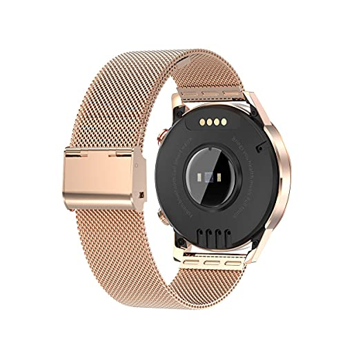 SmartWatch Ladies Smart Watch, pantalla táctil redonda IP67 Smartwatch impermeable para mujeres, rastreador de fitness con almacenamiento de música local y llamadas Bluetooth, pulsera para iOS / Andro