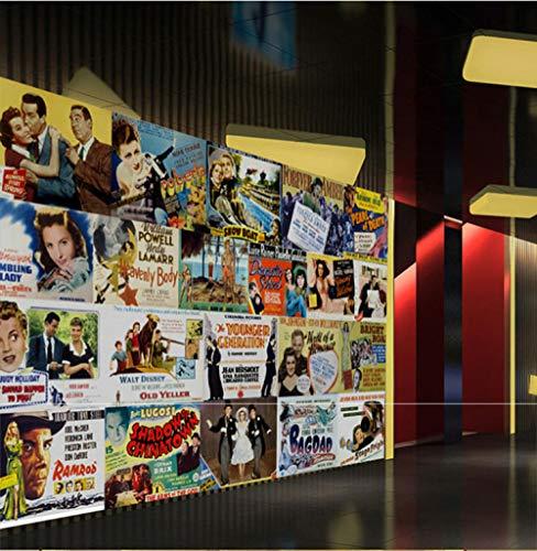MGQSS 3D fondo de pantalla Carrusel tridimensional Autoadhesivo foto mural fondo de pantalla moderno Hogar decoración póster niño chico niña habitación dormitorio Pegatinas(W)350x(H)256 cm
