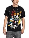 Disney Men's Kingdom Hearts Hearts Group T-Shirt, Black, Medium