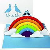 """3D Hochzeitskarte """"Gay Wedding Card - Birds in Love"""" - Pop Up Karte """"Mr. & Mr."""" als Einladungskarten & Hochzeitskarten - als..."""