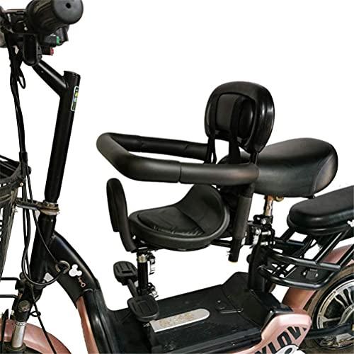 X&Y Niño Bicicleta Asiento eléctrico Bicicleta Frente Silla bebé Silla de Silla de Seguridad de Seguridad Estable (Color : B)