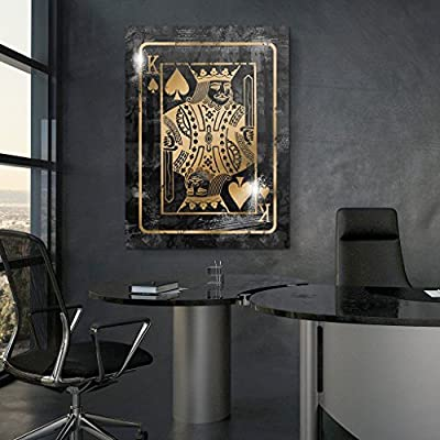 Canvas Cultures The King is Back Motivational Wall Canvas Art - Premium Materials - USA Made by Canvas Cultures