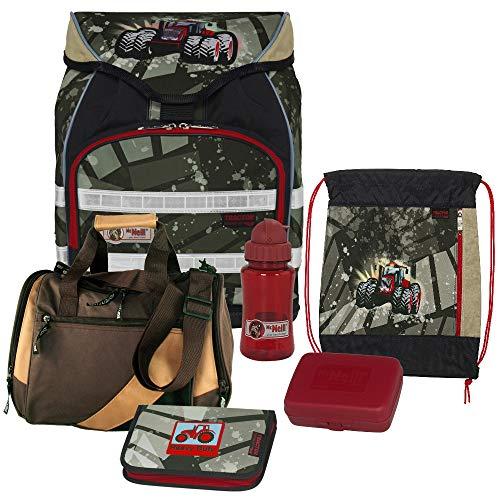 TRACTOR - McNeill ERGO Light Trekking Schulranzen-Set 6tlg. mit Sporttasche, Brotdose und Trinkflasche