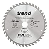 Image of Trend CSB/23540 Craft Pro Combination TCT Blade Ideal for Bosch, Makita, Milwaukee, and Hikoki Circular Saws, 235mm x 40 Teeth x 30mm Bore, Tungsten Carbide Tipped