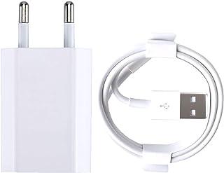 ZLONXUN Cargador 1A y Cable Compatible con iPhone 7/7 Plus/8/8 Plus/6/6 Plus/6S/6S Plus/5/5S