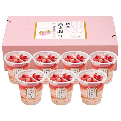 博多あまおう たっぷり苺のアイス 〔苺のアイス74ml×7〕