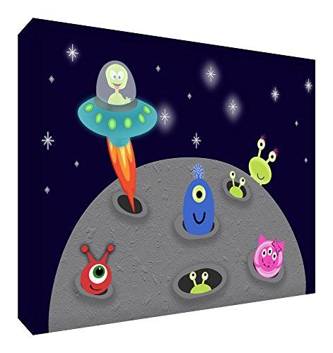 Feel Good Art Extraterrestres Bloc Décoratif en Acrylique Transparent Poli comme un Diamant Multicolore 10,5 x 7,4 x 2 cm Petit
