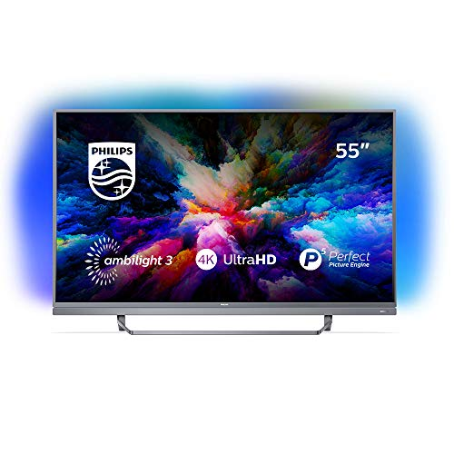 Philips 55PUS7503 Smart TV UHD 4K (3840 x 2160 px), da 55 , Android, Ultra Slim, Ambilight, anno 2018 [Esclusiva Amazon.it]
