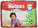 Huggies Little Movers Slip-On Diaper Pants - Size 3 16-28lbs(7-13kg) 29 count