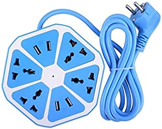 Fuzion Plus 6 Amp Multi Plug Extension Board – 4 Universal Plug Point Power Strip Multi Plug Surge Protector with 4 Smart USB Ports for Home,Office & Workshop (Color May Vary)