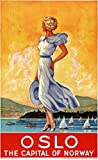guyfam Oslo: The Capital of Norway Vintage Travel Poster
