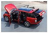 Diecast Model Coche 1/18 para rango SUV Coche Diecast Metal Suv Modelo Modelo Juguetes Niños Girl Regalos COLECCIÓN HABILIA COLECCIÓN DIECAST Vehículo con nueva caja (Color: Rojo) wmpa ( Color : Red )