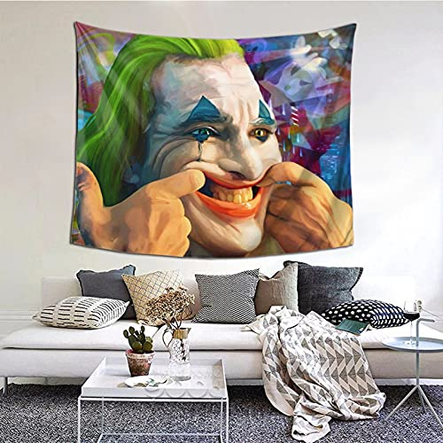 yeeasssyi Tapiz de película Joker The Smile of Madness para dormitorio, decoración artística colorida para sala de estar, dormitorio de 152 x 152 cm