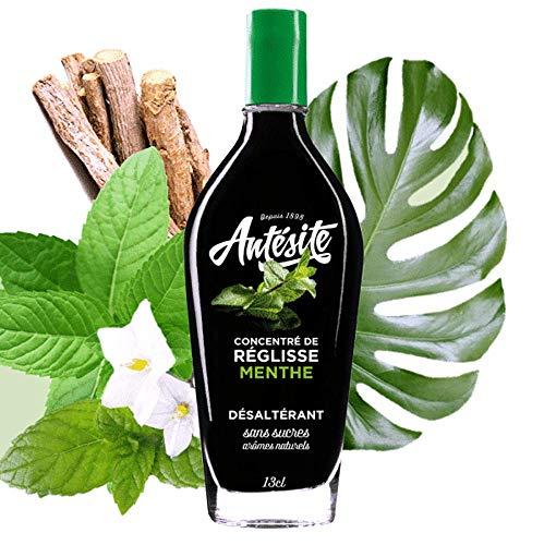 Antésite Menthe, concentré de réglisse à diluer, réglisse et extraits naturels de menthe - Le flacon de 13cl
